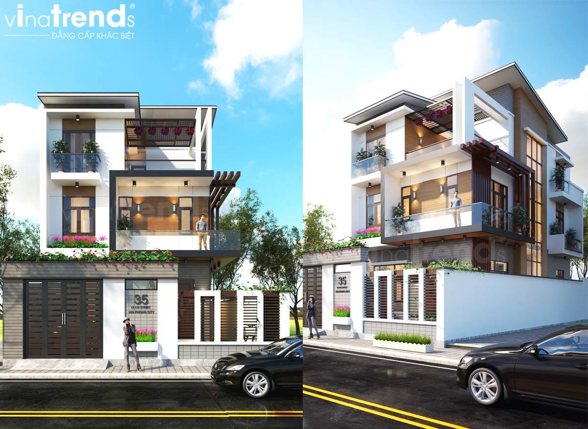 mau nha biet thu 3 tang hien dai dep nhat Mẫu biệt thự đẹp 3 tầng hiện đại 18x20m chỉ muốn ở nhà của gia đình chú Tuấn ở Nha Trang