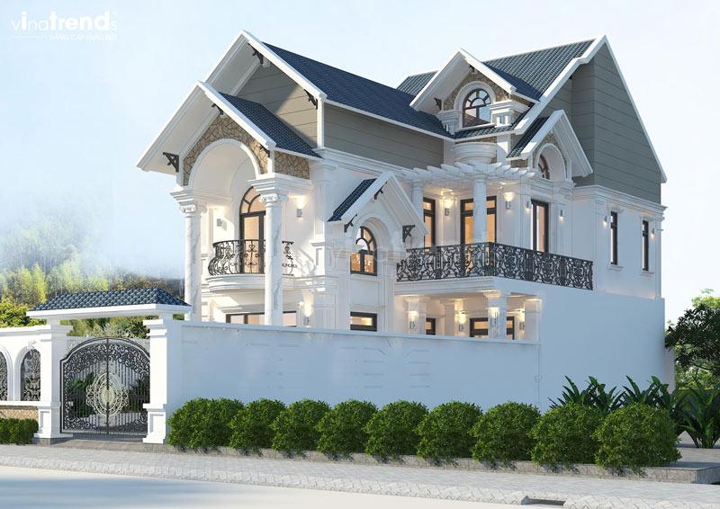 biet thu mai thai 2 tang dep Mẫu nhà vườn biệt thự 2 tầng đơn giản 10x20,8m có 4 phòng ngủ ở Phan Thiết