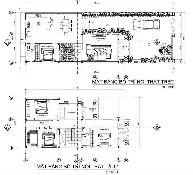 mat bang mau biet thu 2 tang mai thai dep Mẫu nhà biệt thự 2 tầng mái thái chữ L 8,6x17,2m Không Đẹp sẽ trả lại hồ sơ thiết kế ở Biên Hòa
