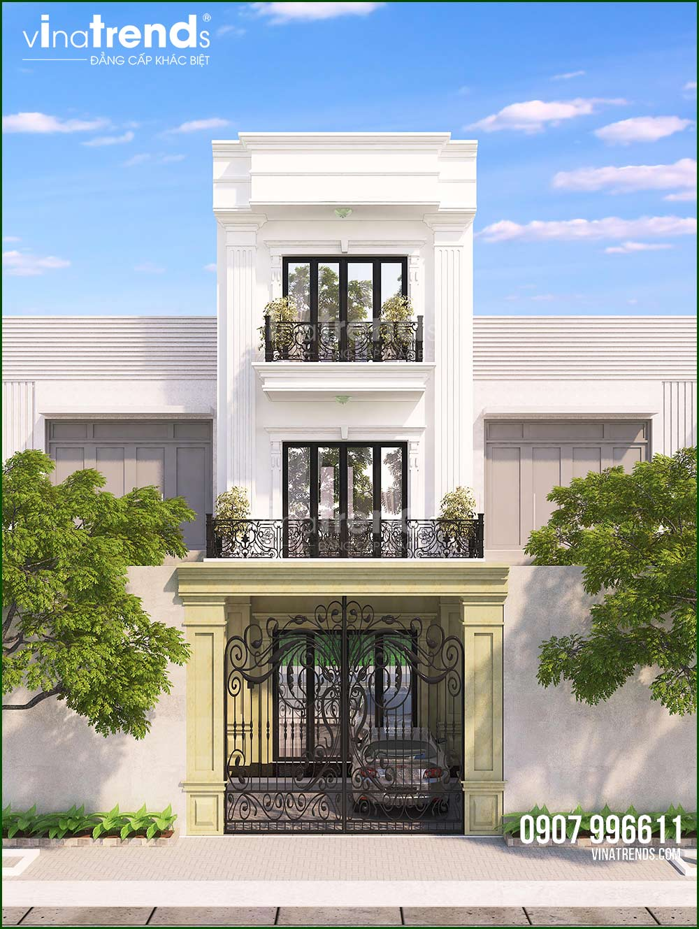 mau mat tien nha 3 tang mat tien 5m dep 15+ mẫu nhà 2 3 4 5 tầng mặt tiền 4m trở lên đẹp sang tiện nghi từ khách VinaTrends đã xây dựng