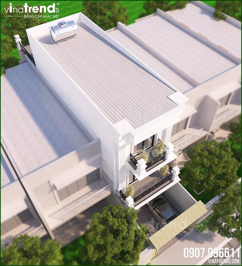 mau nha dep 3 tang nam 2021 Mẫu nhà 3 tầng mặt tiền 5,1x17m tân cổ điển của ông trùm quán cà phê ở Đồng Nai