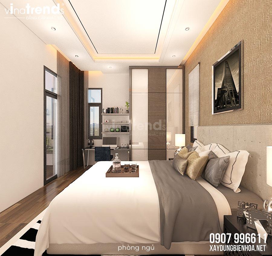 noi that biet thu 3 tang hien dai vinatrends thiet ke 10 Mẫu nhà biệt thự 3 tầng đẹp hiện đại 120m2 xây trên khu đất Vàng ở Bửu Long   Biên Hòa