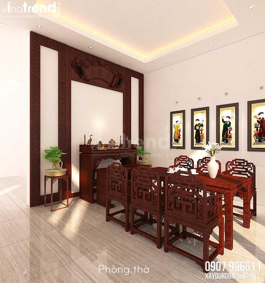 noi that biet thu 3 tang hien dai vinatrends thiet ke 15 Mẫu nhà biệt thự 3 tầng đẹp hiện đại 120m2 xây trên khu đất Vàng ở Bửu Long   Biên Hòa