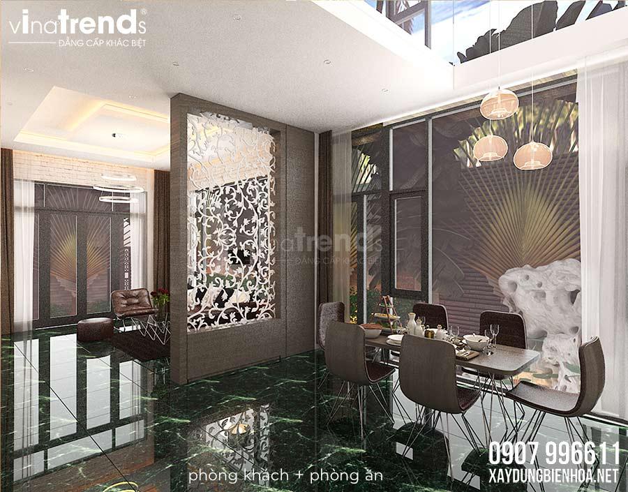 noi that biet thu 3 tang hien dai vinatrends thiet ke 2 Đơn giá thiết kế nhà phố   biệt thự trọn gói của VinaTrends từ 08/2020