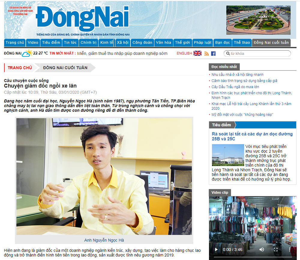 giam doc ngoi xe lan Đồng Nai Cuối Tuần: Chuyện giám đốc ngồi xe lăn