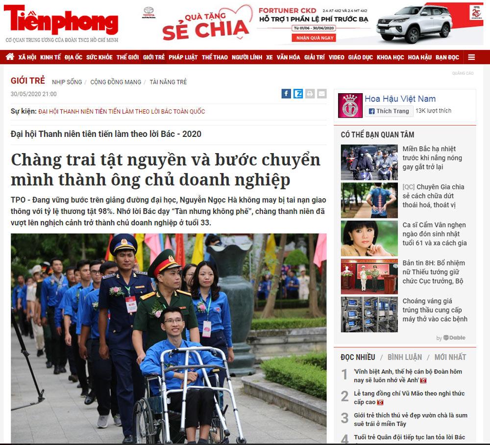 giam doc vinatrends 1 Chàng trai tật nguyền và bước chuyển mình thành ông chủ doanh nghiệp nguồn báo Tiền Phong