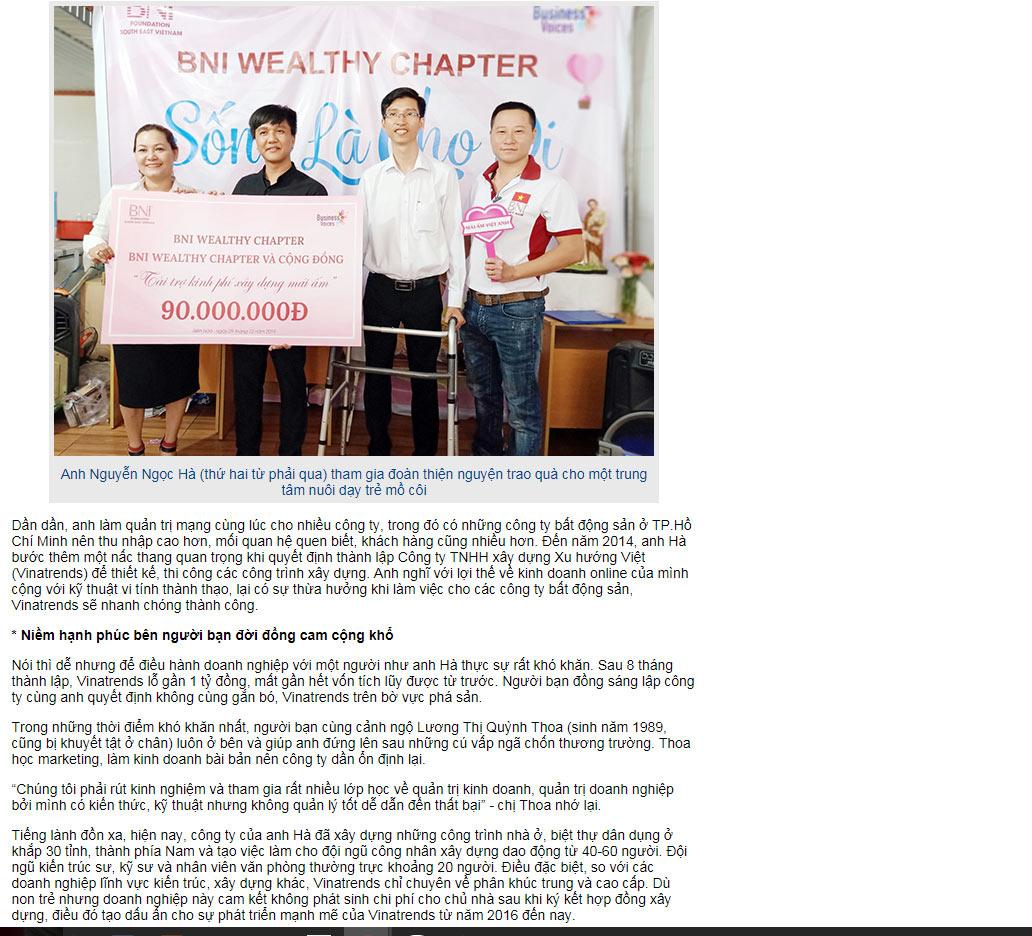 giam doc vinatrends Đồng Nai Cuối Tuần: Chuyện giám đốc ngồi xe lăn