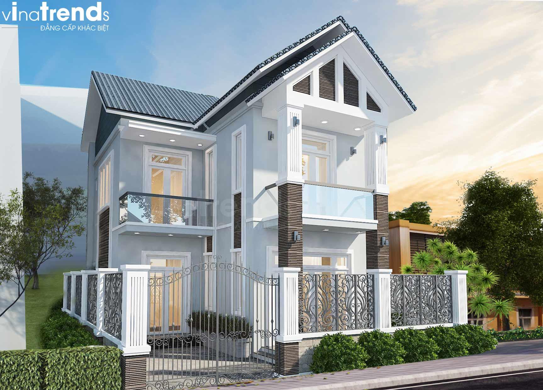 mau nha 2 tang mai thai don gian dep Mẫu nhà 2 tầng mái thái đơn giản 7,8x11m đẹp như  biệt thự ở Biên Hòa