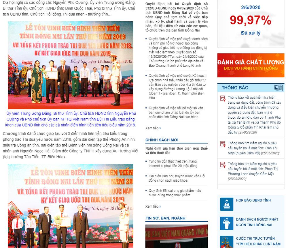 nguon bao dong nai 1 CEO Nguyễn Hà được tuyên dương điển hình tiên tiến tỉnh Đồng Nai năm 2019