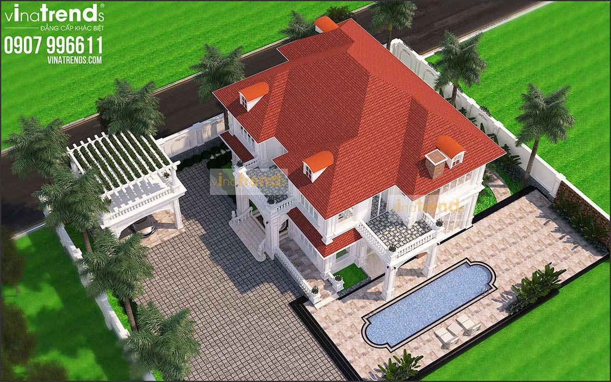 mau biet thu dep 2 tang co san vuon ho boi rong 2000m2 cua dai gia binh phuoc do viantrends thiet ke thi cong VinaTrends   Công ty xây dựng tại Đồng Nai hơn 499 công trình thiết kế xây nhà trọn gói trên toàn Việt Nam