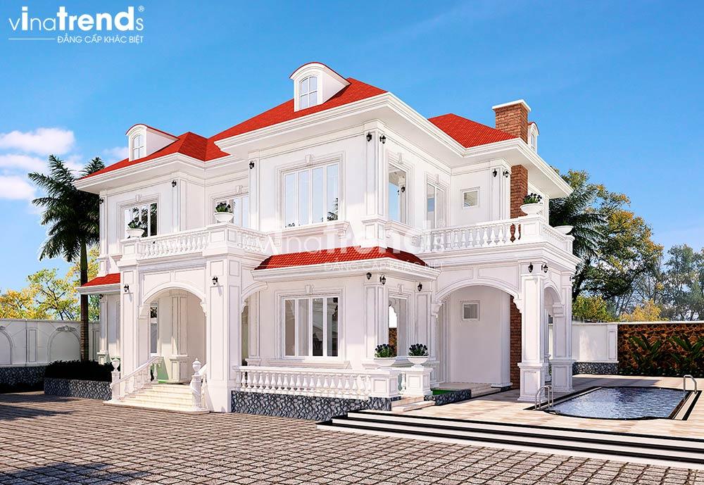 mau biet thu san vuon 2 tang dep VinaTrends   Công ty xây dựng tại Đồng Nai hơn 499 công trình thiết kế xây nhà trọn gói trên toàn Việt Nam
