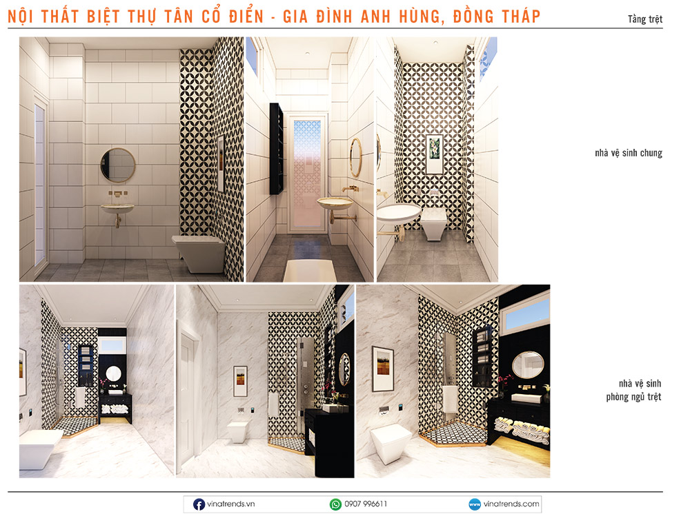 3 thiet ke noi that biet thu co dien nha anh hung 2 Mẫu thiết kế nội thất nhà phố, biệt thự, công trình khác [catalogue 2020]