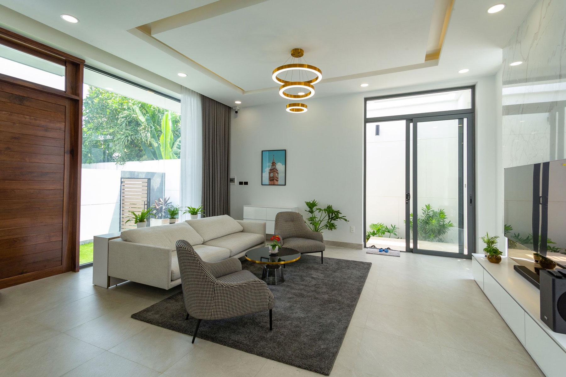 7 Mẫu thiết kế phòng khách nhỏ hẹp nhà ống xinh xắn