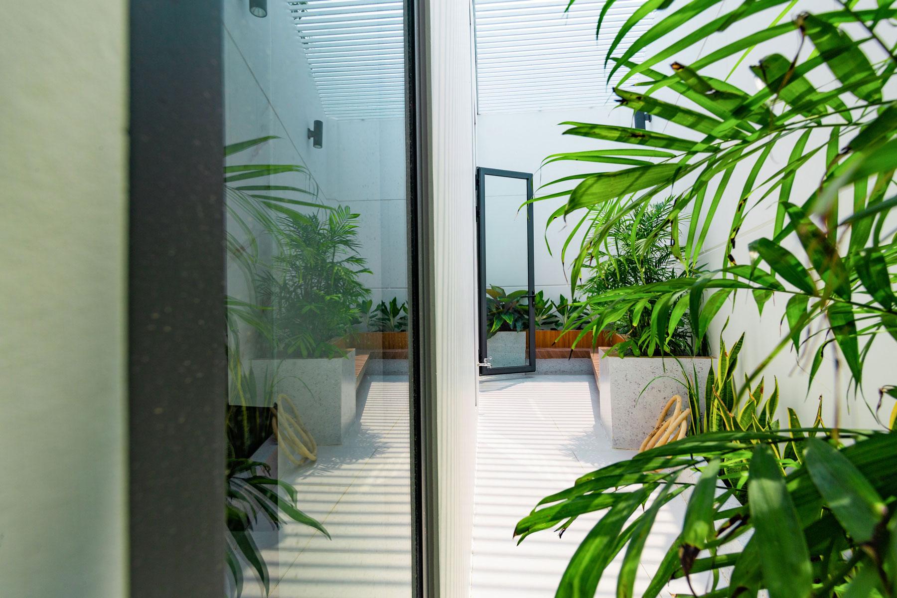 hien nha noi that nha hien dai 1 tang dep Biệt thự vườn nhà 1 tầng hiện đại 8x19m kiểu phương Tây không gian mở ở Biên Hòa
