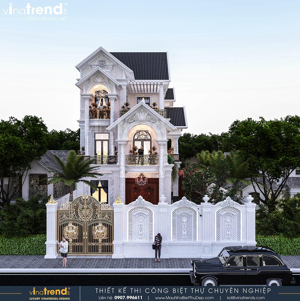 mau nha biet thu 3 tang mai thai dep nhat viet nam 1 50+ mẫu nhà biệt thự cổ điển đẹp đẳng cấp nhiều đại gia Việt đã chọn xây