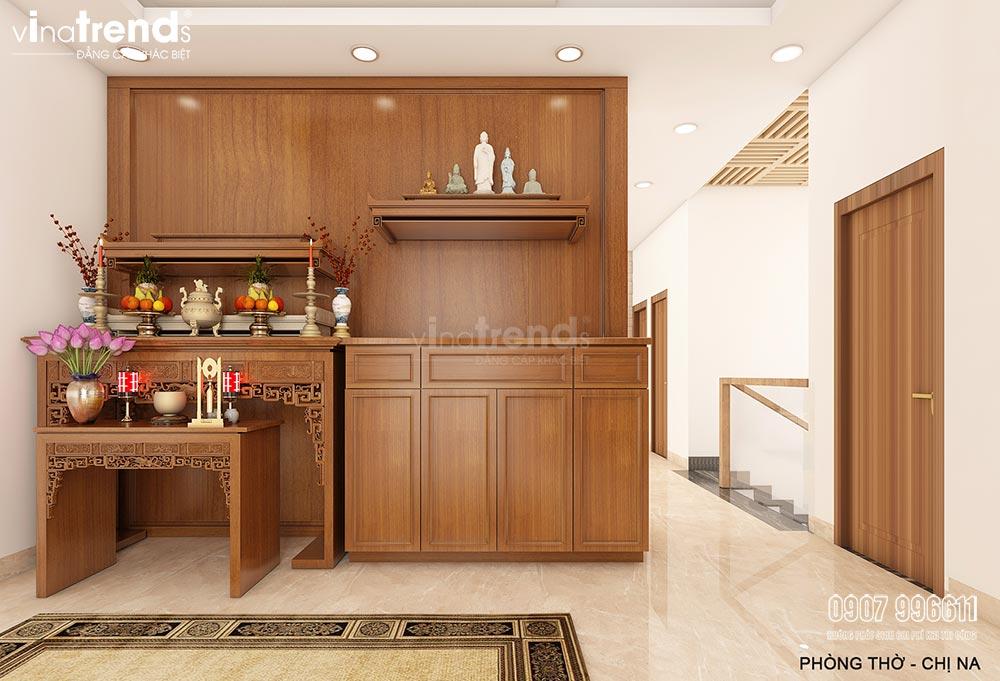 noi that go cho phong tho Thiết kế nội thất gỗ công nghiệp hiện đại cho mẫu biệt thự 2 tầng ở Phan Thiết