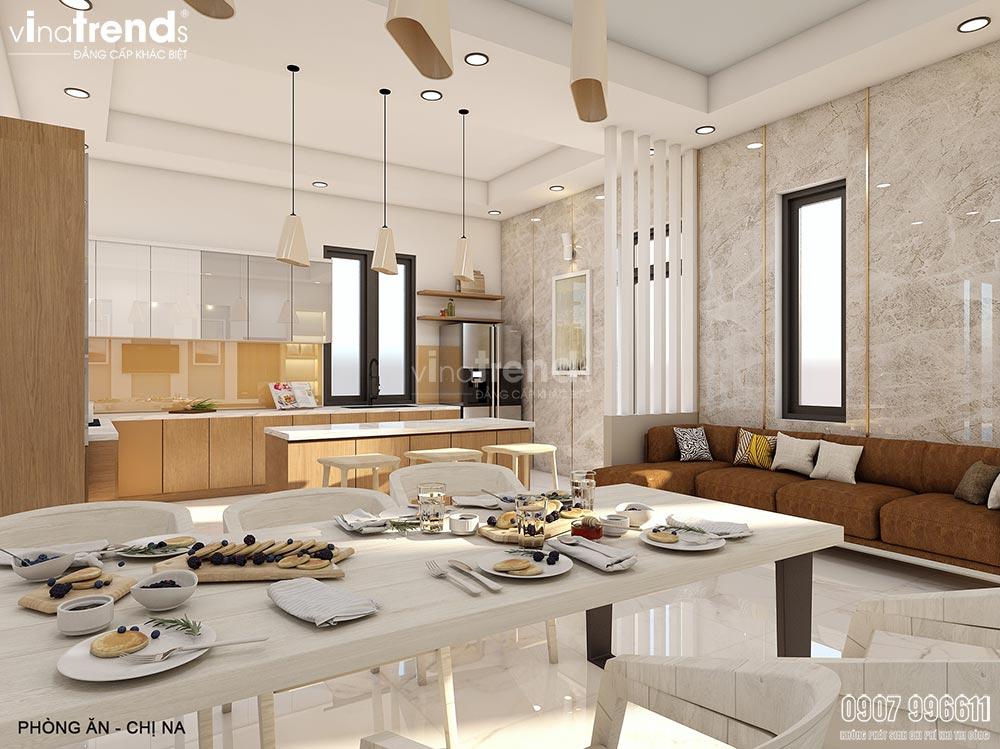 noi that phong bep an hien dai dep vinatrends Thiết kế nội thất gỗ công nghiệp hiện đại cho mẫu biệt thự 2 tầng ở Phan Thiết
