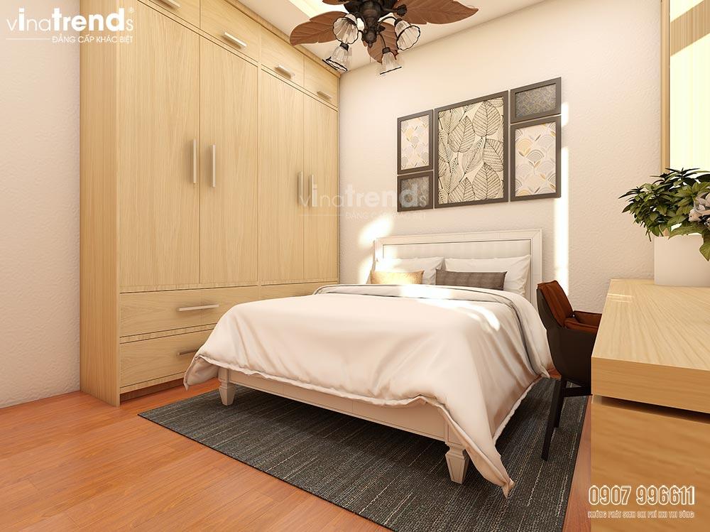 noi that phong ngu go cong nghiep 3 Thiết kế nội thất cao cấp cho căn hộ nhỏ xinh   NT131213B
