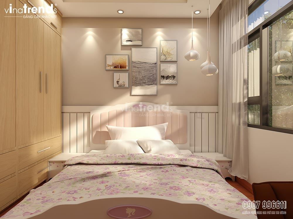 noi that phong ngu go cong nghiep 4 Mẫu nhà biệt thự 3 tầng 8,8x10m đẹp nhất khu Thạnh Phú Đồng Nai