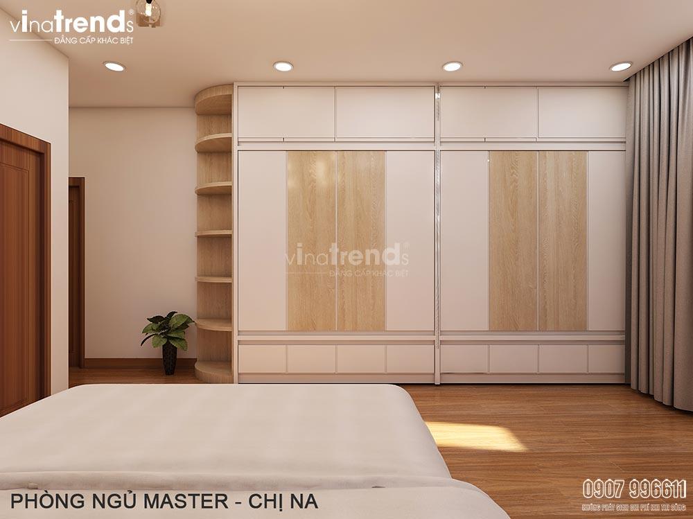 noi that phong ngu hien dai don gian dep vinatrends 3 Thiết kế nội thất gỗ công nghiệp hiện đại cho mẫu biệt thự 2 tầng ở Phan Thiết
