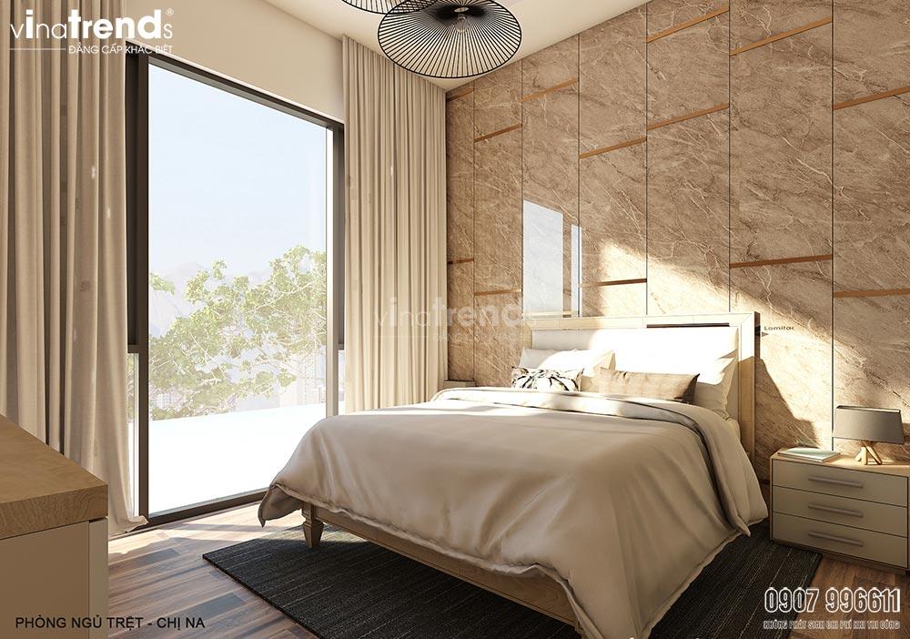 noi that phong ngu hien dai don gian dep vinatrends Thiết kế nội thất gỗ công nghiệp hiện đại cho mẫu biệt thự 2 tầng ở Phan Thiết