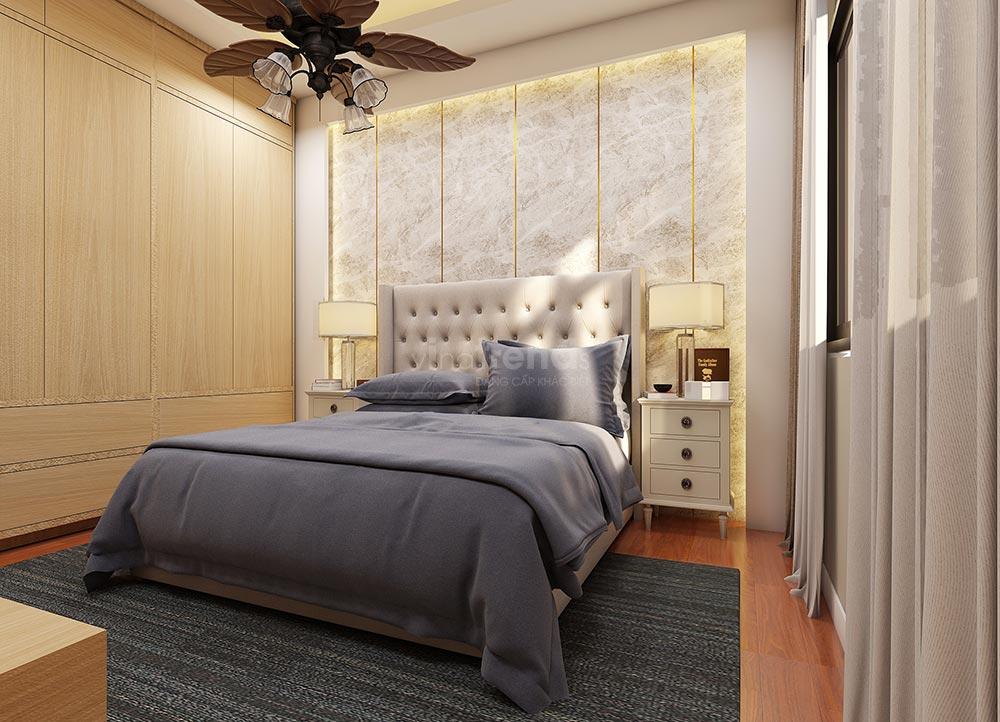 phong ngu Thiết kế nội thất gỗ công nghiệp cho biệt thự 3 tầng hiện đại ở Hồ Chí Minh