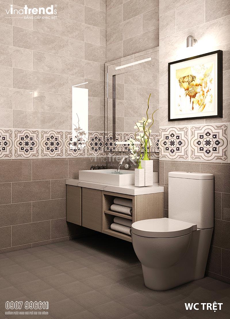 thiet ke nha ve sinh don gian 1 Thiết kế nội thất cao cấp cho căn hộ nhỏ xinh   NT131213B