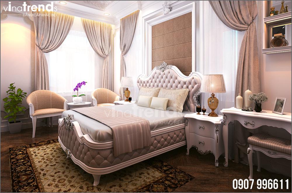 thiet ke noi that biet thu tan co dien nha ong ba duong vinatrends 10 Thiết kế nội thất mẫu biệt thự 2 tầng tân cổ điển tone trắng sang trọng ở Bửu Long