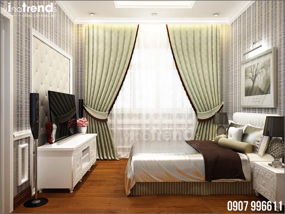 thiet ke noi that biet thu tan co dien nha ong ba duong vinatrends 12 Thiết kế nội thất mẫu biệt thự 2 tầng tân cổ điển tone trắng sang trọng ở Bửu Long