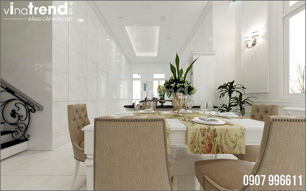 thiet ke noi that biet thu tan co dien nha ong ba duong vinatrends 4 Thiết kế nội thất mẫu biệt thự 2 tầng tân cổ điển tone trắng sang trọng ở Bửu Long