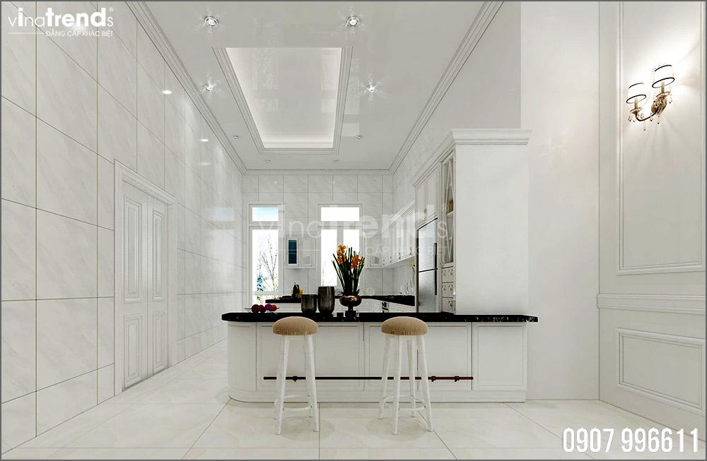 thiet ke noi that biet thu tan co dien nha ong ba duong vinatrends 5 Thiết kế nội thất mẫu biệt thự 2 tầng tân cổ điển tone trắng sang trọng ở Bửu Long