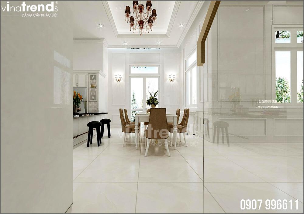 thiet ke noi that biet thu tan co dien nha ong ba duong vinatrends 7 Thiết kế nội thất mẫu biệt thự 2 tầng tân cổ điển tone trắng sang trọng ở Bửu Long
