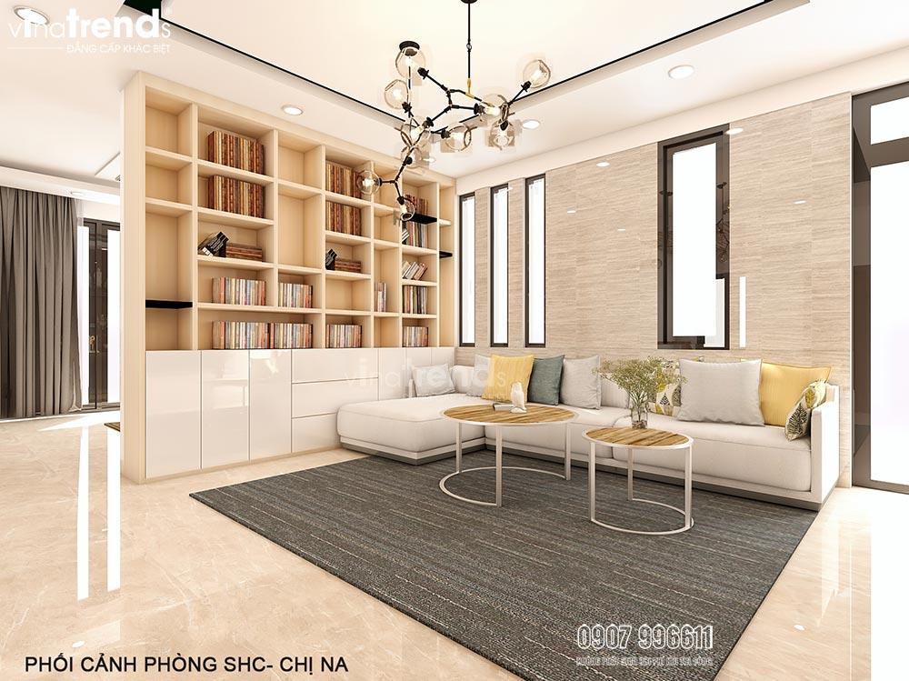 thiet ke noi that go phong sinh hoat chung 15+ mẫu nhà 2 3 4 5 tầng mặt tiền 4m trở lên đẹp sang tiện nghi từ khách VinaTrends đã xây dựng