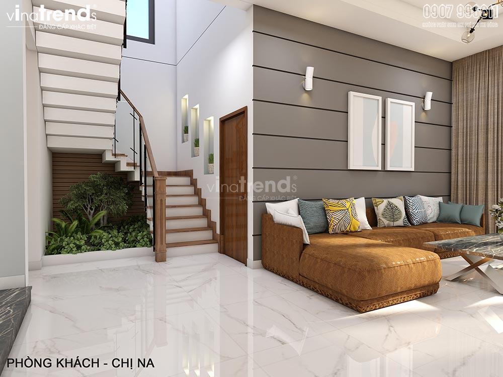 thiet ke noi that hien dai dep vinatrends 1 Thiết kế nội thất gỗ công nghiệp hiện đại cho mẫu biệt thự 2 tầng ở Phan Thiết