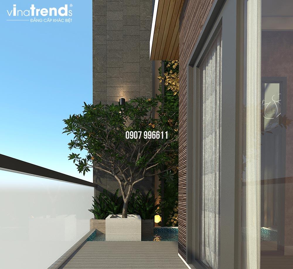 thiet ke noi that nha lien ke co gara o to phong cach hien dai vinatrends thuc hien 19 Thiết kế thi công nội thất hiện đại nhà liền kề 3 tầng ở Biên Hòa