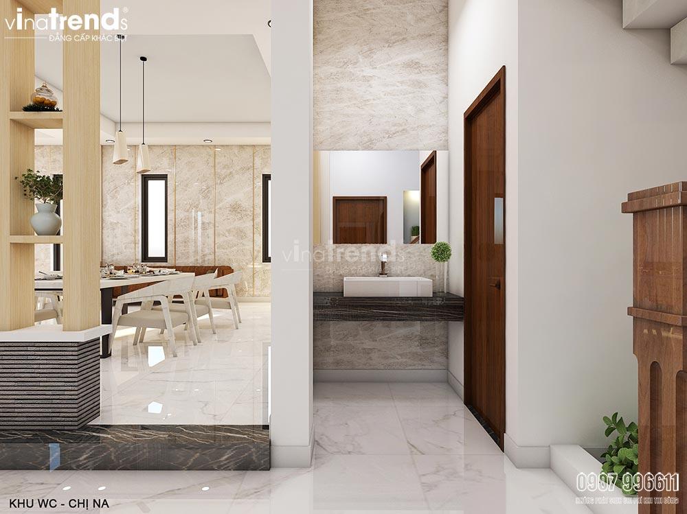 thiet ke noi that phong an dep Thiết kế nội thất gỗ công nghiệp hiện đại cho mẫu biệt thự 2 tầng ở Phan Thiết