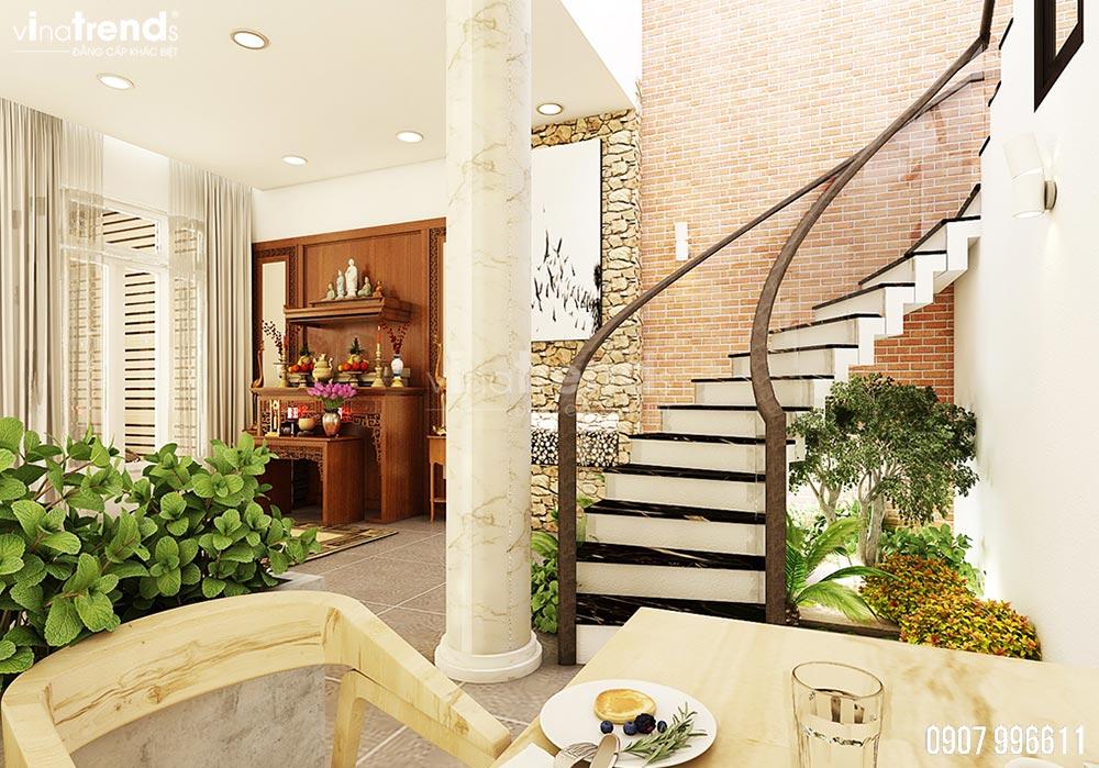 thiet ke noi that phong khach hien dai dep 3 Thiết kế nội thất biệt thự hiện đại 3 tầng 7,8x17m phủ toàn cây xanh ở Hồ Chí Minh