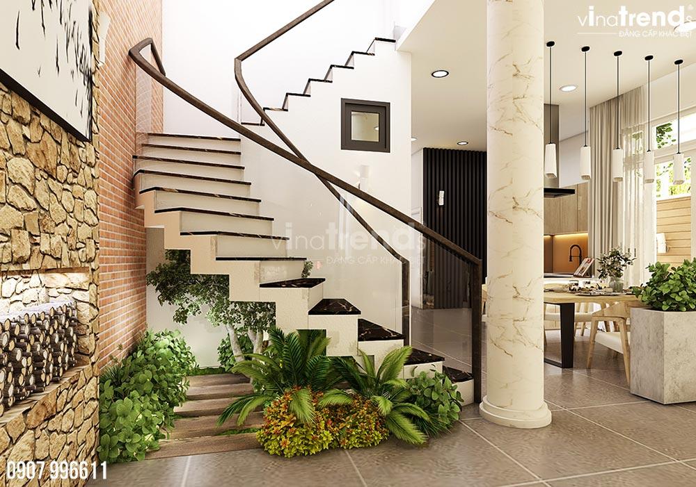 thiet ke noi that phong khach hien dai dep 4 Thiết kế nội thất biệt thự hiện đại 3 tầng 7,8x17m phủ toàn cây xanh ở Hồ Chí Minh