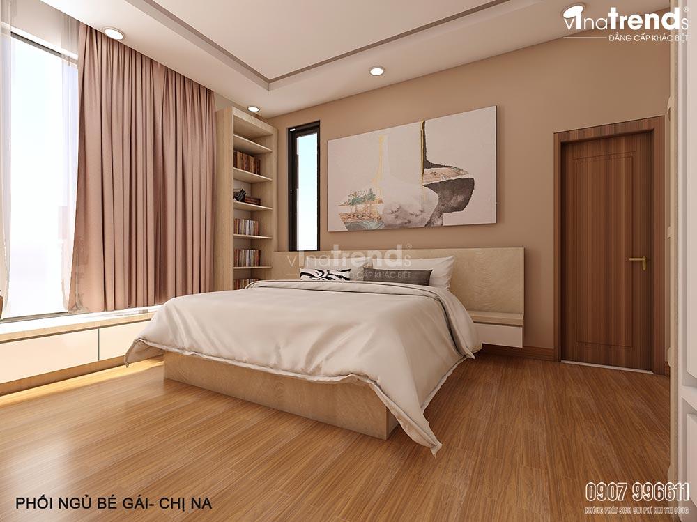 thiet ke noi that phong ngu be gai Mẫu biệt thự nhà vườn 2 tầng 12,5x18m ở Cam Ranh là điểm dừng của 1 resort mang tên Hạnh Phúc