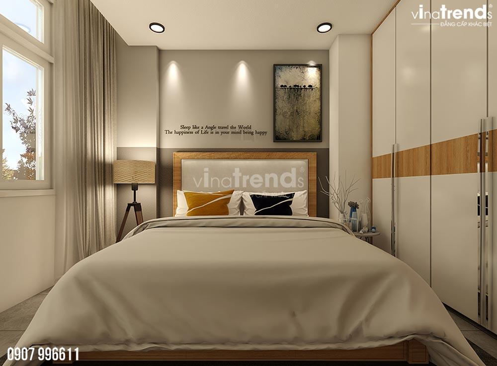 thiet ke noi that phong ngu hien dai Thiết kế nội thất biệt thự hiện đại 3 tầng 7,8x17m phủ toàn cây xanh ở Hồ Chí Minh