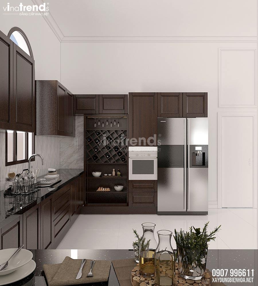 thiet ke phong an biet thu dep 2 Nội thất phòng khách + bếp + ăn của biệt thự 3 tầng tân cổ điển 12x24m ở Bình Dương