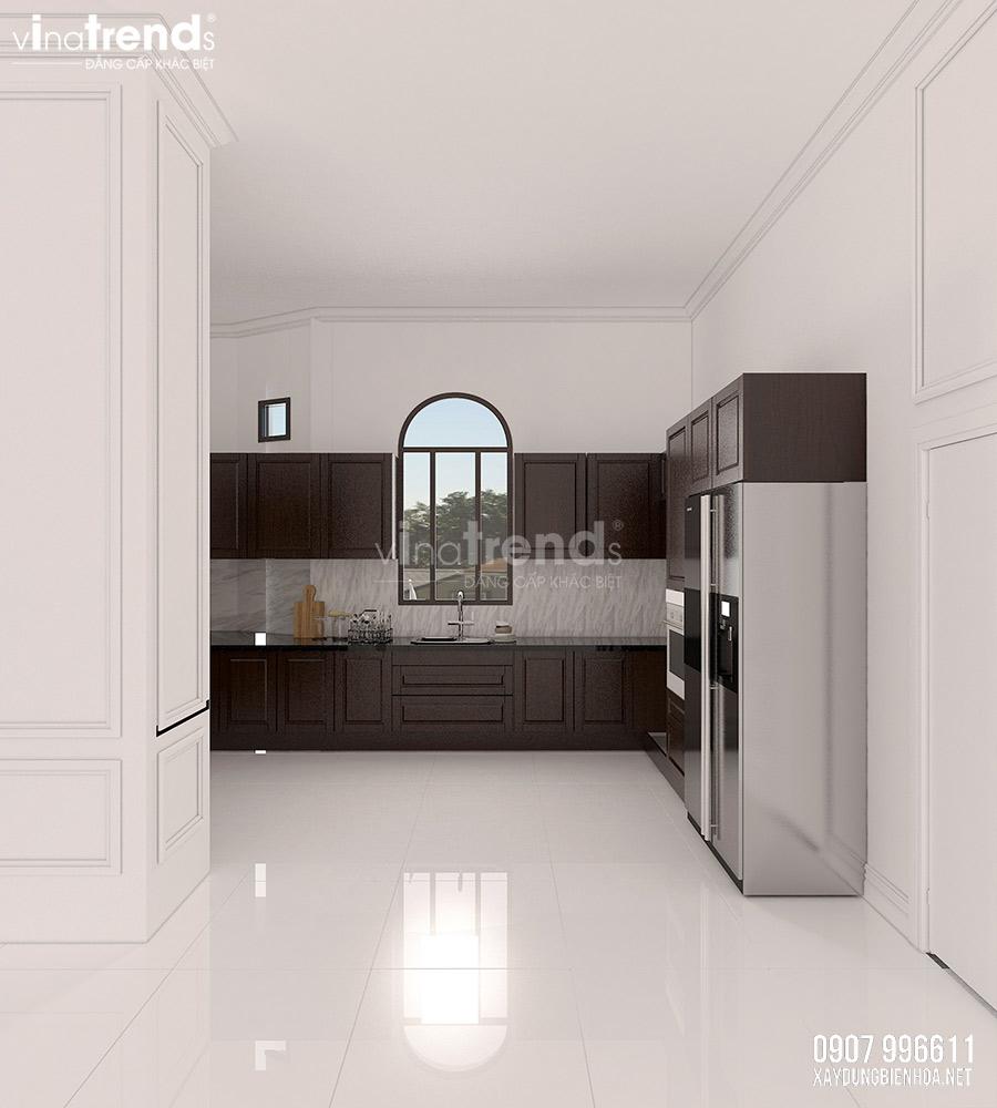 thiet ke phong bep dep 1 Nội thất phòng khách + bếp + ăn của biệt thự 3 tầng tân cổ điển 12x24m ở Bình Dương