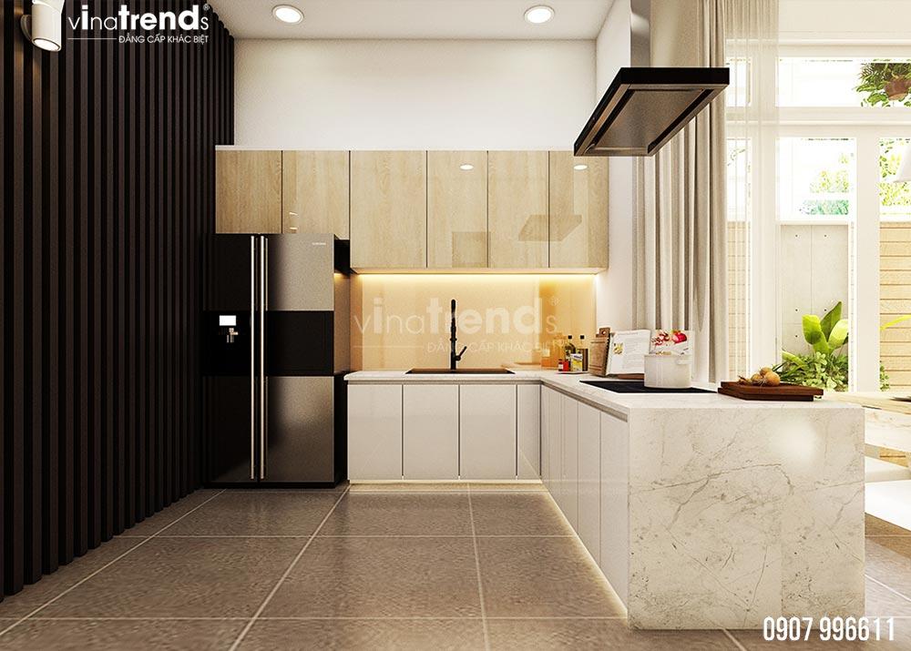 thiet ke phong bep dep 15+ mẫu nhà 2 3 4 5 tầng mặt tiền 4m trở lên đẹp sang tiện nghi từ khách VinaTrends đã xây dựng