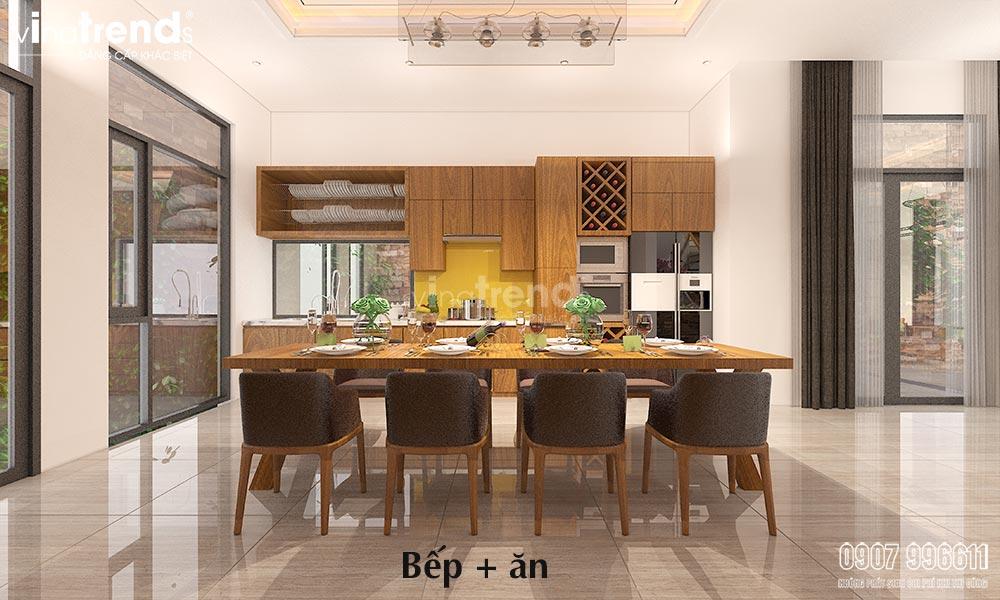 thiet ke phong bep go cong nghiep don gian 1 15+ mẫu nhà 2 3 4 5 tầng mặt tiền 4m trở lên đẹp sang tiện nghi từ khách VinaTrends đã xây dựng