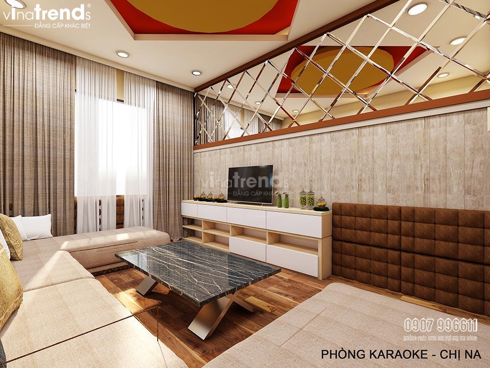thiet ke phong karaoke gia dinh hien dai dep 1 Mẫu biệt thự nhà vườn 2 tầng 12,5x18m ở Cam Ranh là điểm dừng của 1 resort mang tên Hạnh Phúc