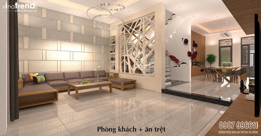 thiet ke phong khach hien dai go cong nghiep 15+ mẫu nhà 2 3 4 5 tầng mặt tiền 4m trở lên đẹp sang tiện nghi từ khách VinaTrends đã xây dựng