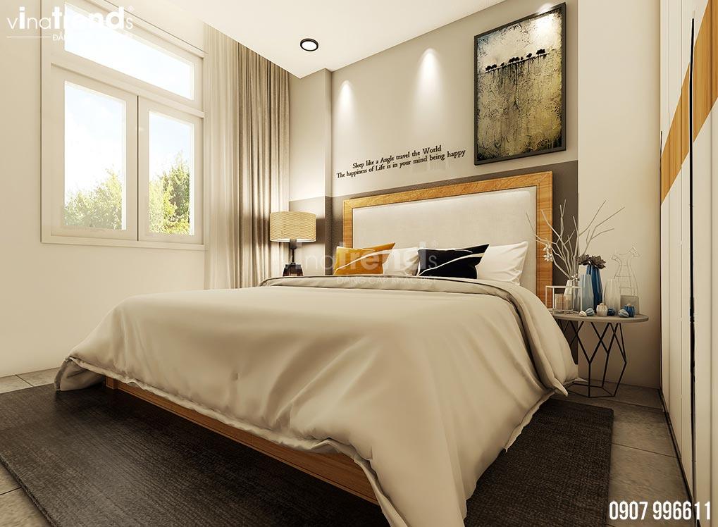 thiet ke phong ngu hien dai dep 2 Mẫu biệt thự 2 tầng 1 sân thượng 7,8x17m hiện đại bạc ngàn cây xanh thanh lọc căn nhà