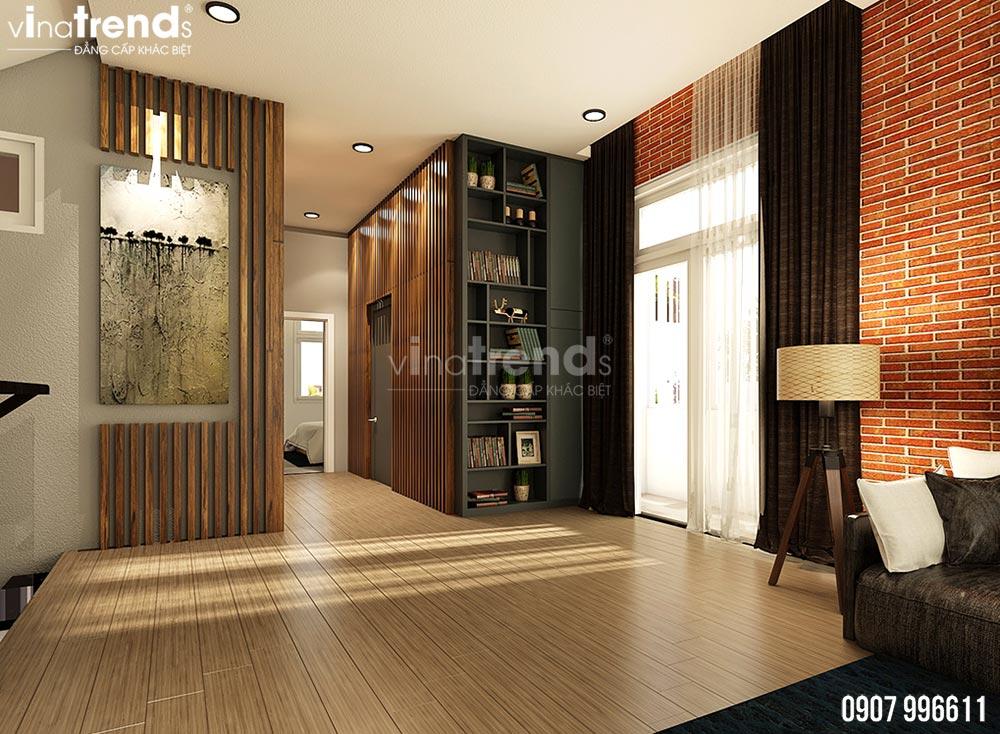 thiet ke phong sinh hoat chung hien dai dep 2 Mẫu biệt thự 2 tầng 1 sân thượng 7,8x17m hiện đại bạc ngàn cây xanh thanh lọc căn nhà