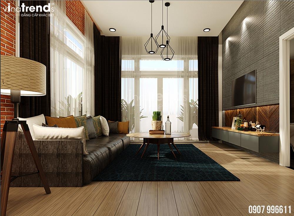thiet ke phong sinh hoat chung hien dai dep 4 Mẫu biệt thự 2 tầng 1 sân thượng 7,8x17m hiện đại bạc ngàn cây xanh thanh lọc căn nhà