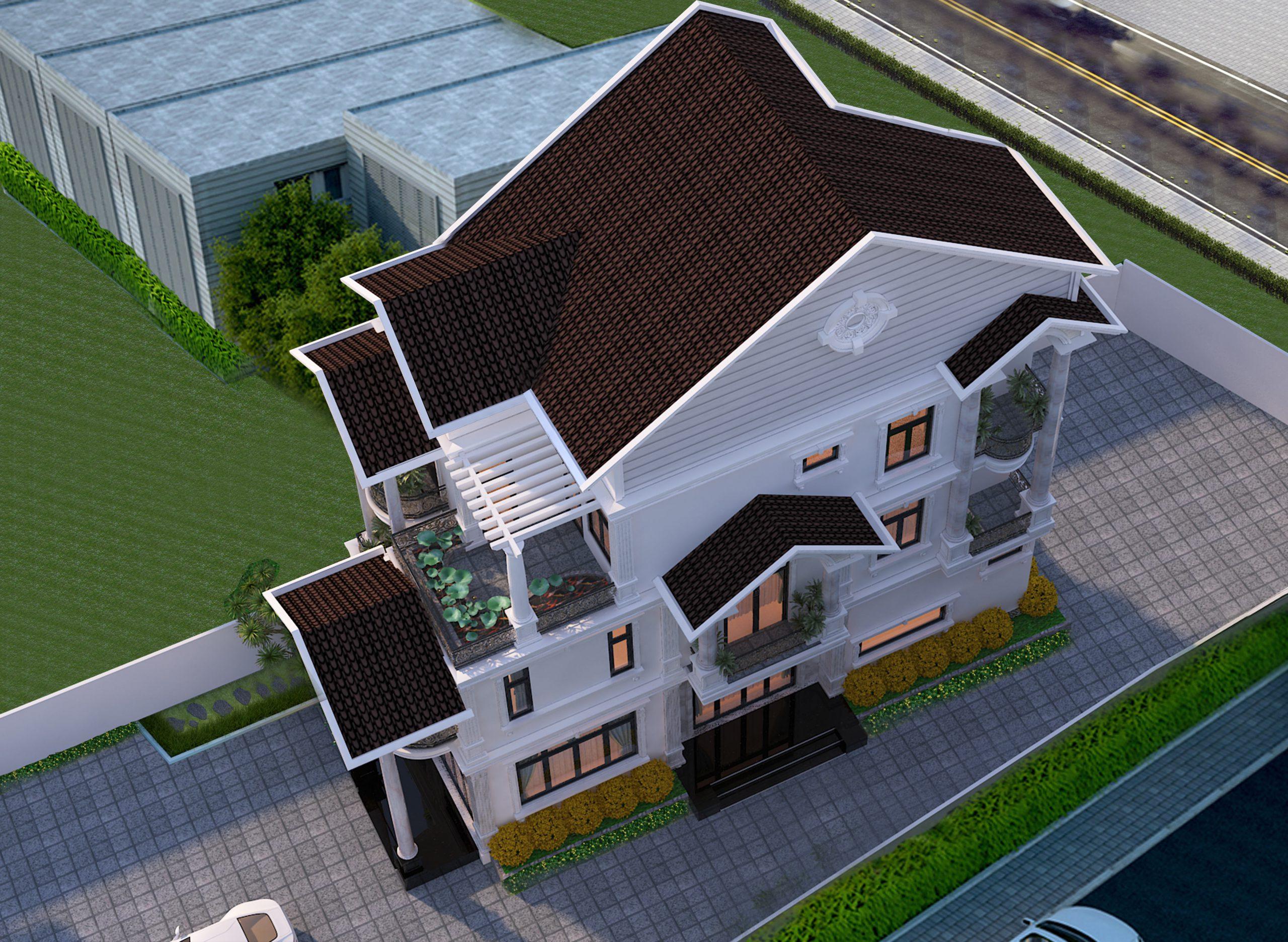 1 scaled Mẫu nhà biệt thự 3 tầng mái thái 6,5x15m có sân vườn rộng khá đồ sộ của anh Nghĩa   Nhà Bè